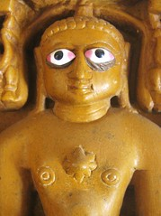 Bug eyed statue, Jain Temple - Jaisalmer, Rajasthan, India
