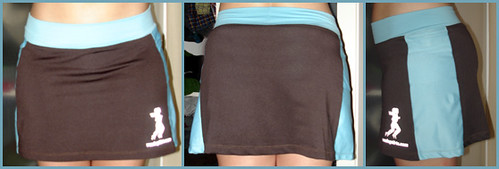 running skirt brown / aqua