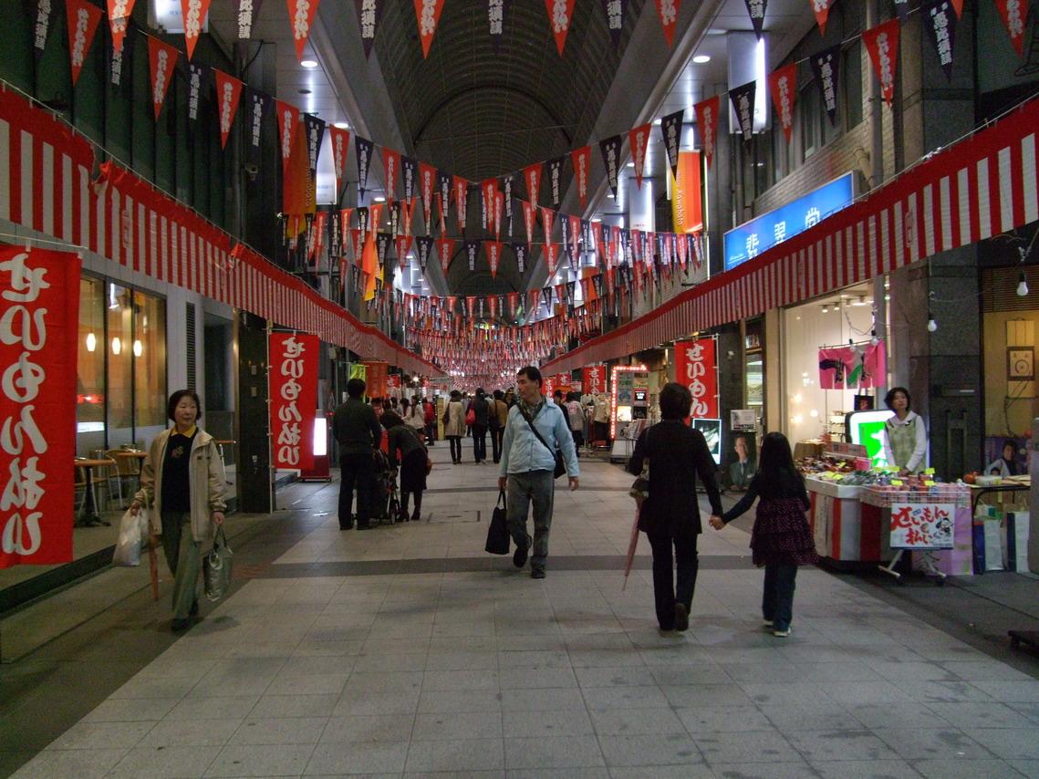 福岡- 中州川端的商店街