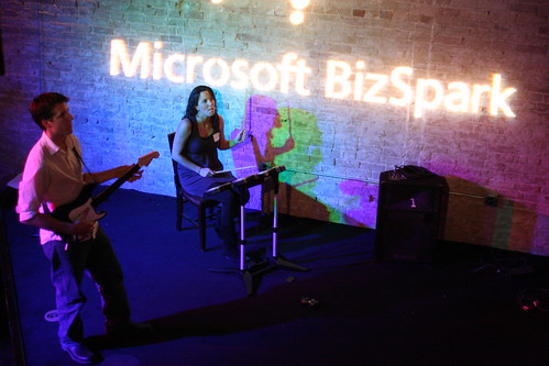 Ignition-Austin by Microsoft BizSpark & Techset - Jacob Wiederanders & Rebecca Ewing on RockBand
