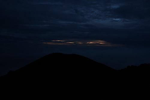 Sonnenaufgang von ziemlich weit oben aus gesehen