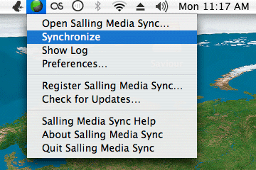 Salling Media Sync Menu Bar Item