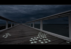 Post a note to the weather Gods. ([ Kane ]) Tags: weather pier message post postit australia brisbane explore note wharf qld gods kane wellingtonpoint gledhill kanegledhill kanegledhillphotography