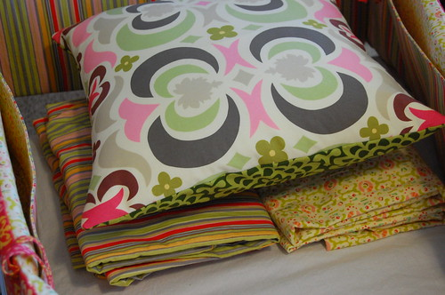 pillow and crib sheets