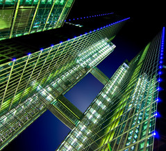 HighLight Towers II - Munich (yushimoto_02 [christian]) Tags: tower architecture modern skyscraper canon germany munich mnchen geotagged arquitectura europe towers architektur munchen turm highlight hdr muenchen hochhaus architectura wolkenkratzer highlighttowers flickrsbest lightofnight canonxsi exploredcanoneosdigitalrebelxsi unusualviewsperspectives