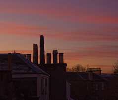 glesga rooftops (mikej1981) Tags: city sunset scotland rooftops glasgow tenements gloaming