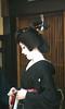 Kotoha's Erkae (fuyou-hime) Tags: red white black green gold tiger bamboo maiko geiko geisha kimono obi gion camellia kitsuke katsura shimada erikae kotoha kobu hikizuri nihongami