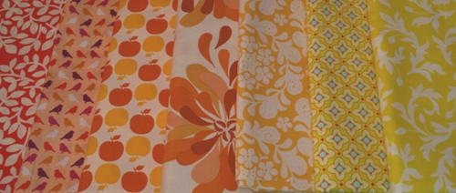 orange and yellow fabric