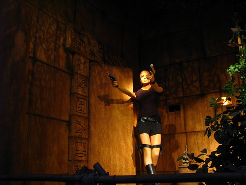 Hollywood wax muesuem Angelina Jolie Tomb Raider