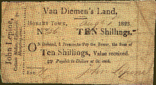 Tasmanian Prommisory Note