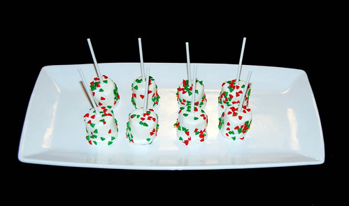 Christmas white chocolate marshmallow pops