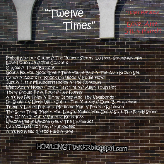 """Twelve Times"" (back cover)"