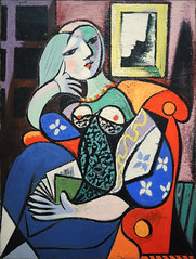 """Woman with a Book"" by Pablo Picasso (mark6mauno) Tags: woman simon museum painting book nikon with norton canvas picasso oil pasadena nikkor d3 nortonsimonmuseum pable nikond3 2470mmf28g"