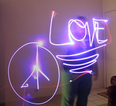 Light Writing - Peace and Love