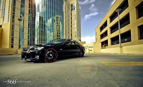 bmw 335i black. BMW 335i on 360 Forged Split