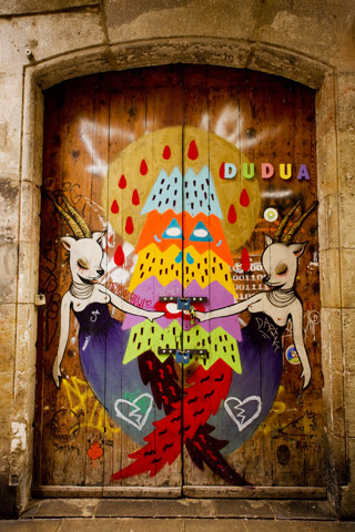 Duduá , front door by Miss Van & Zosen