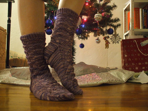 Purple Monkey Socks
