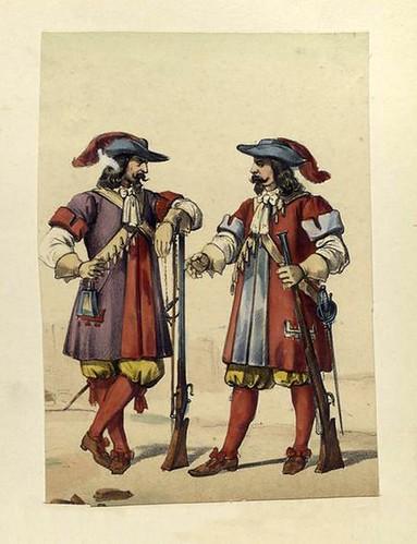 019-Infanteria de linea mosquetero y arcabucero tercio de los colorados viejos 1680