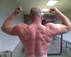 Back, December 2008 (Chris Saul) Tags: muscle progress growth golds workout gym