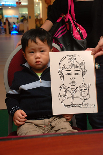 Caricature live sketching for Marina Square Day 2 - 6