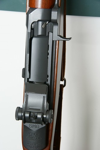 rear sight and receiver of M1 Grand rifle