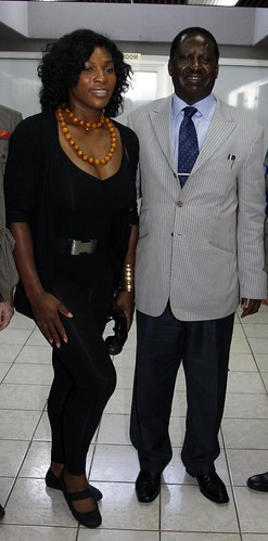 Kenyan Prime Minister Raila Odinga and Serena Williams