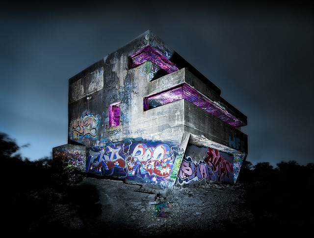 Cool Bunker with Gorgeous graffiti