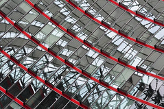 Stereo (simistef) Tags: abstract reflection berlin glass lines modern reflections germany nikon sonycenter postdamerplatz d90 nikond90