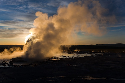 Clepsydra Geyser at Sunset