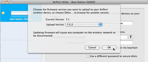 AirPort Utility - Updating Firmware to 7.5.2