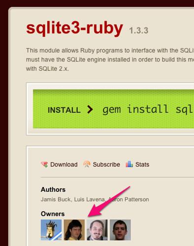 sqlite3-ruby | RubyGems.org | your community gem host