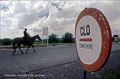 At the border of Kara-Suu (Kirgyz/Uzbek) (egourlan) Tags: 2005 people horse cheval town village w border may mai kyrgyz kg ethnic centralasia kyrgyzstan gens customs borderarea frontiere kirghizistan frontire asiecentrale ethnie ethnicgroup karasuu postefrontire doines frontire postefrontiere 1ec kirghize uzbekborder oshprovince oshregion 31662kgo egourlan iconodia ericgourlan ochregion borderaera gourlan boderpost ethniegoupe poste
