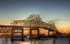 Mississippi River Bridge - Baton Rouge (todd landry photography) Tags: bridge river mississippi rouge nikon louisiana bridges engineering baton hdr d90