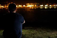 watching over the bokeh lights (erkua) Tags: las canon 50mm lights luces bokeh flash watching over speedlight vigilando strobist 60d 430exii yn460