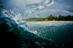 goodbye HI (SARA LEE) Tags: summer distortion beach rainbow paradise day break afternoon oahu surreal wave overcast rainy northshore colourful reef left haleiwa reefbreak chuns chunsreef waterhousing sarahlee kobetich surfhousing vivantvie hannahkyle