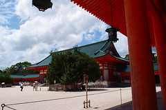 Daigokuden from right side (kmmanaka) Tags: japan kyoto torii heianjingu votivepicture shurine paperfortunes