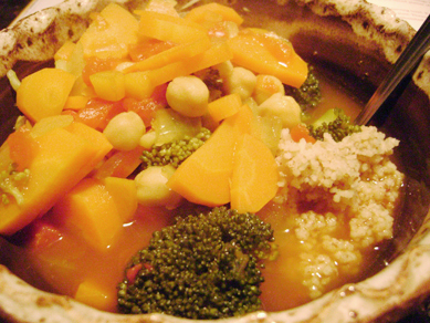 Tunisian couscous with vegetable stew