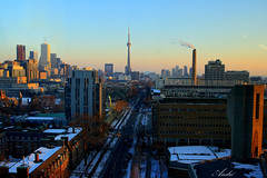 Robarts' 11th Floor (Andre25_85) Tags: blue sunset sky panorama toronto ontario canada college beautiful architecture buildings campus landscape evening university downtown cntower floor library universityoftoronto peacock trinity northamerica stgeorge robarts hdr urbanlandscape robartslibrary arhitectura buildingsinthesun peacocklibrary librariesinnorthamerica universityoftorontolibraries wwwutorontoca