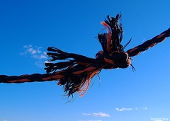 Knot (Nanooo48 aka FinchumFotos =)) Tags: blue red sky black rope knot nautical thumbsup photofaceoffwinner pfogold