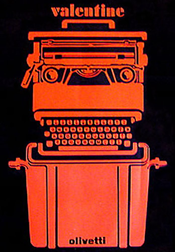 designed by Ettore Sottsass for the Olivetti Valentine - 1969