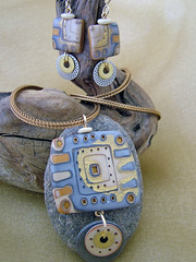 Polydelphia 2008 (julie_picarello) Tags: house yellow beads julie jewelry designs polymer gane mokume picarello