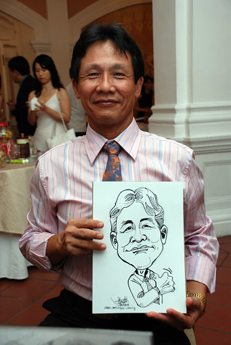 Caricature live sketching for wedding dinner6