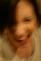 Laughter (Helen Boronia McHugh) Tags: portrait smile mouth zoe movement teeth laugh laughter earing