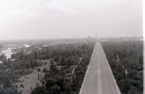 View from Victory Column, West Berlin, 25 August 1962