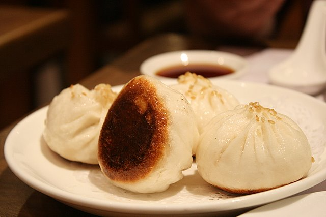 Shanghainese pan-fried pork buns