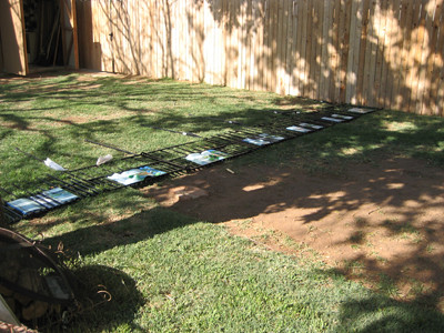 Fence laid out prior.