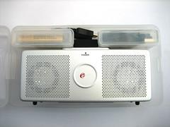 De speaker wordt geleverd in een nette doos.