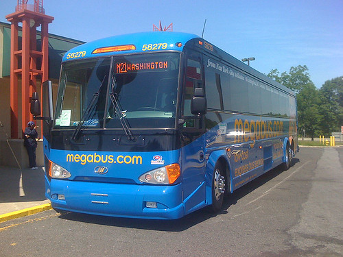 The new Megabus coach from Washington DC to New York - Taken With An iPhone