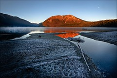 Frosty lake sunrise (Kiwi Mikex) Tags: newzealand lake sunrise wow frost southisland lakerotoiti