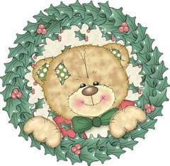 Urso Guirlanda (Lucia Helena Cesar) Tags: carro bebe urso riscos moldes aplicaes enxoval patchcolagem